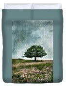 Tree And Wildflowers  Duvet Cover