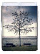 tree at lake Constance Duvet Cover by Joana Kruse
