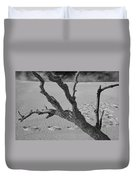 Tree Branch And Footprints On Sleeping Bear Dunes Duvet Cover