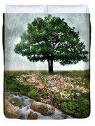 Tree By Stream Duvet Cover