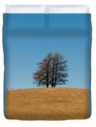 Tree Formation On A Hill Of Veldt Duvet Cover