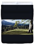 Tree In A Field, Great Sugar Loaf Duvet Cover