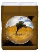 Tree In A Field Through A Glass Eye Duvet Cover