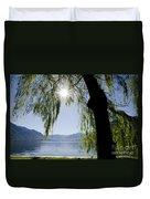 Tree In Backlight Duvet Cover