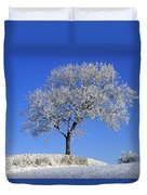 Tree In Winter, Co Down, Ireland Duvet Cover