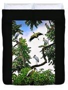 Tree Of Storks  Duvet Cover