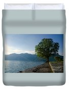 Tree On The Lake Front Duvet Cover