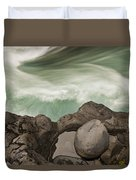 Tree Trunk Gorge In  Turangi Duvet Cover