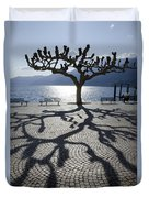 Tree With Shadow Duvet Cover