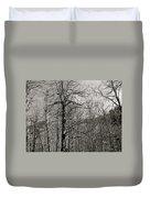 Trees And Hillside Duvet Cover