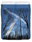 Trees And Trails Duvet Cover