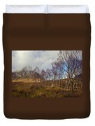 Trees Below Stob Dearg Duvet Cover by Gary Eason