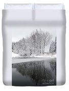Trees By The Lake Duvet Cover