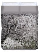 Trees Heavy With Cherry Blossoms Duvet Cover