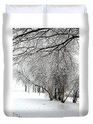 Trees In Snow Duvet Cover