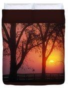 Trees In The Sunrise Duvet Cover