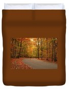 Trees Of Autumn - Holmdel Park Duvet Cover by Angie Tirado