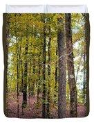 Trees Of Golden Hues Duvet Cover