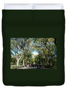 Trees On The Mall In Central Park Duvet Cover