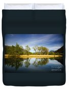 Trees Reflections On The Lake Duvet Cover