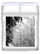 Trees Under The Snow Duvet Cover
