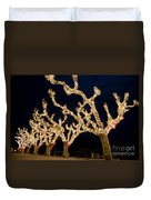 Trees With Lights Duvet Cover