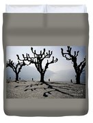 Trees With Shadows Duvet Cover