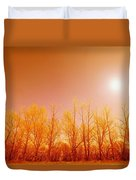 Trees With Sunlight Duvet Cover