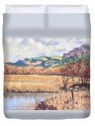 Cors Caron Nature Reserve Tregaron Painting Duvet Cover