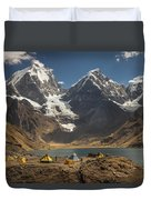 Trekkers Camp Near Carhuacocha Lake Duvet Cover