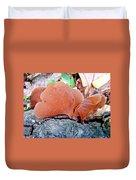 Tremella Mesenterica - Orange Brown Brain Fungus Duvet Cover