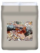 Tremella Mesenterica - Reddish Brown Brain Fungus Duvet Cover