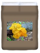 Tremella Mesenterica - Yellow Brain Fungus Duvet Cover