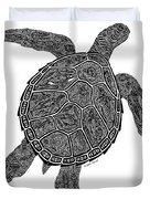 Tribal Turtle IIi Duvet Cover by Carol Lynne
