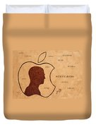 Tribute To Steve Jobs Duvet Cover