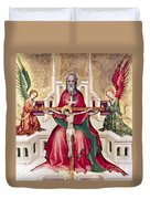 Trinity And Christ Duvet Cover
