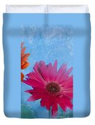 Triptych Gerbera Daisies-two Duvet Cover