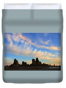 Trona Pinnacles At Sunset Duvet Cover