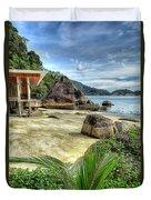 Tropical Beach Duvet Cover by Adrian Evans