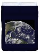 Tropical Cyclones Katia, Lee, Maria Duvet Cover