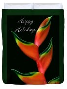 Tropical Holiday Card Duvet Cover