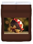 Tropical Mangosteen - The Medicinal Fruit Duvet Cover by Kaye Menner