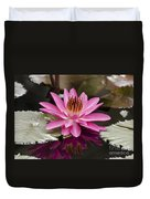 Tropical Night Flowering Water Lily  Rose De Noche IIi Duvet Cover