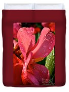 Tropical Rose Canna Lily Duvet Cover