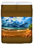 Tropical Seasonal Monsoon Rain V2 Duvet Cover