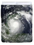 Tropical Storm Karl Over The Yucatan Duvet Cover