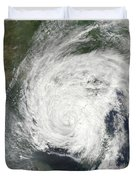 Tropical Storm Muifa Over China Duvet Cover