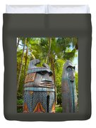 Tropical Tikis Duvet Cover