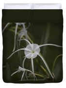 Tropical White Spider Lily Duvet Cover