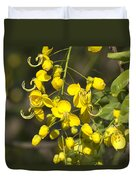 Tropical Yellow Flowers Duvet Cover